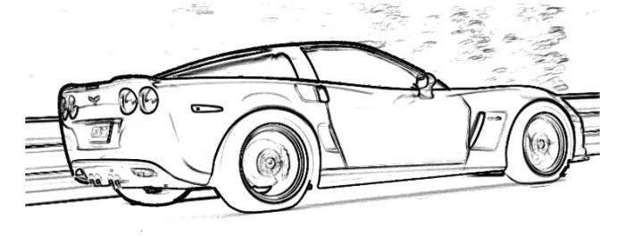 corvette car coloring super fast cars