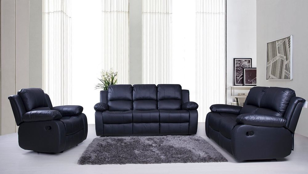 Valencia Sofa Set Suite Leather Recliner Sofas 3 2 1 Black Brown Cream Lazyboy Ebay Sofa Sale Sofa Couch Reclining Sofa