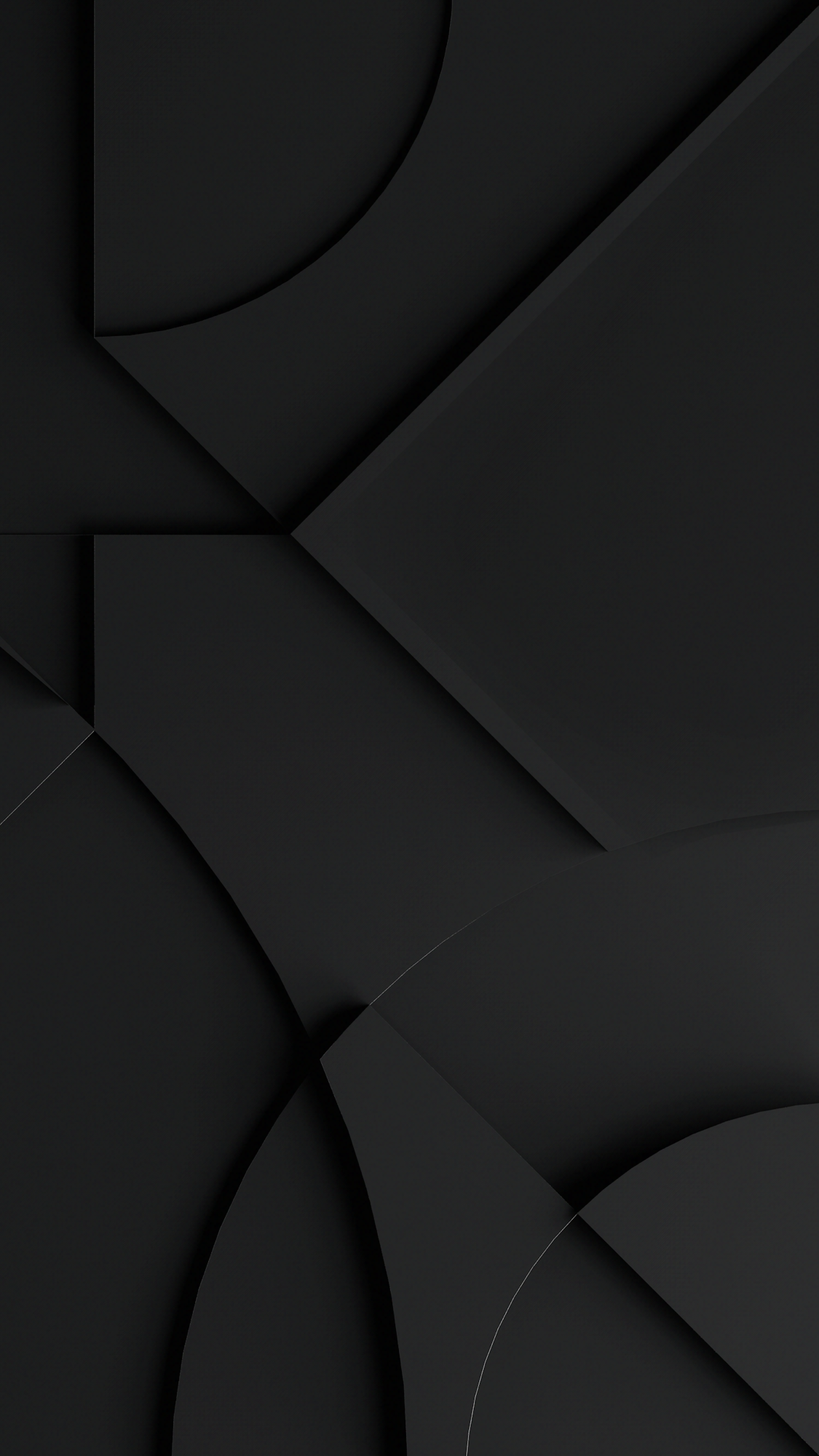 Black Layers Material Design Dimensional Shadows Clean Abstract Black Phone Wallpaper Black Wallpaper Android Wallpaper
