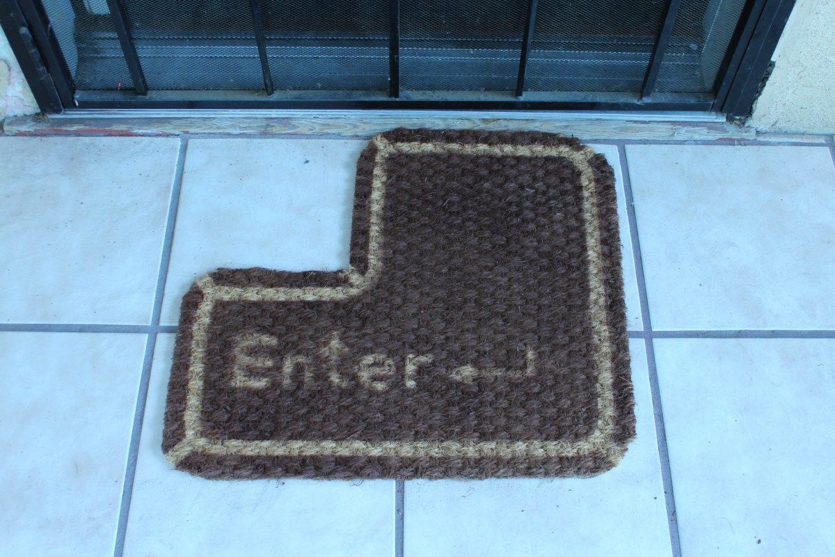 Enter Key Doormat & Interchangeable Hidden Key Doormat ...