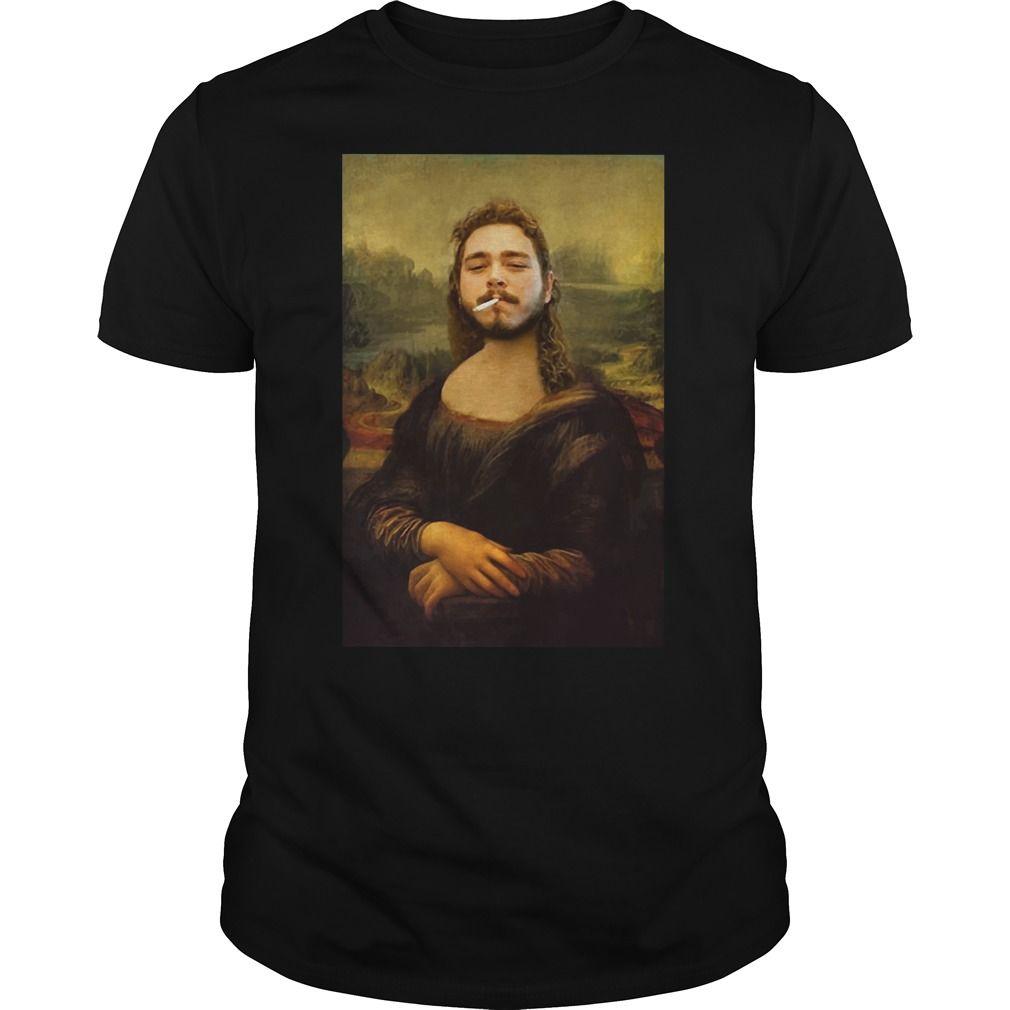 Post Malone Mona-Lisaa Parody T Shirt tee
