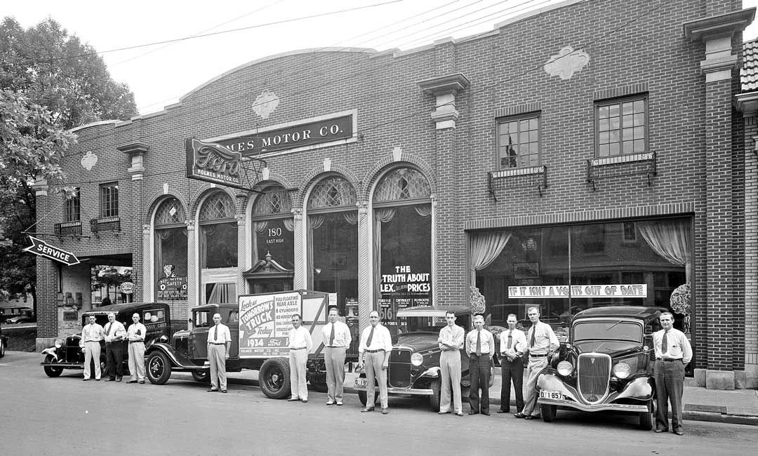 Holmes ford dealership 1934 yesteryear pinterest for Ford motor company dealerships