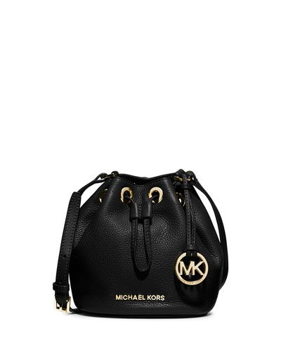 971fdcd2b705 V27FZ MICHAEL Michael Kors Jules Drawstring Crossbody Bag, Black ...