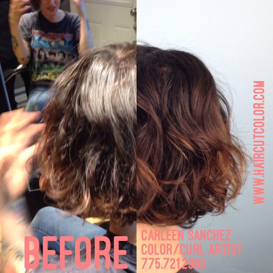 Curly wavy hair artistry by Carleen Sanchez, soft Balayage