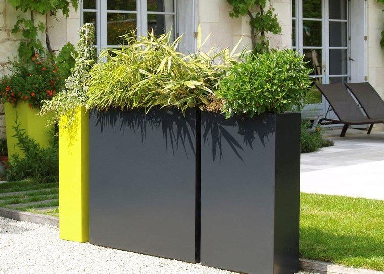 separador en jardín Jardineras Pinterest Jardineras, Elegante - jardineras modernas