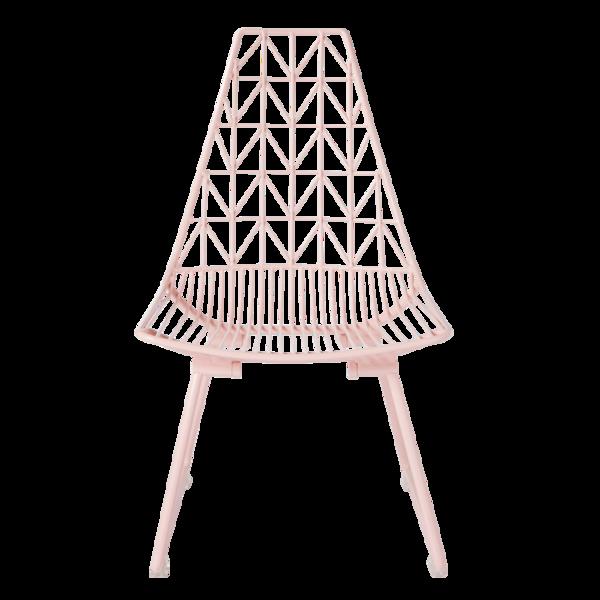 Bon La De Dah Kids Triangle Wire Kids Chair   Pink