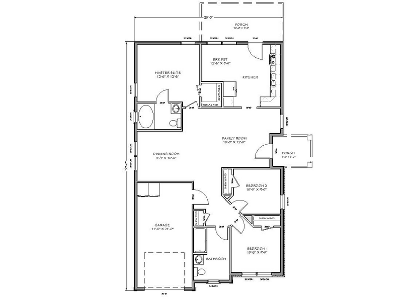 Tiny House Floor Plans With Two Room Or Bedroom And Large Family