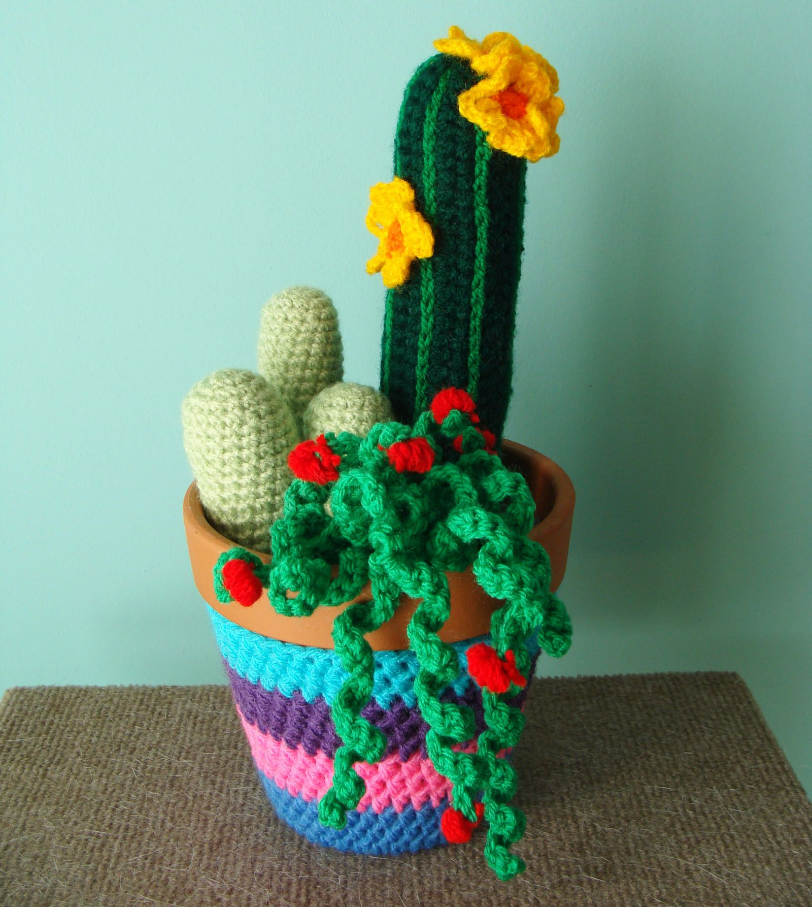 Cactus Fantasia Amigurumi Tejidos A Crochet : Cactus tejido fiori Pinterest Cactus y Tejido