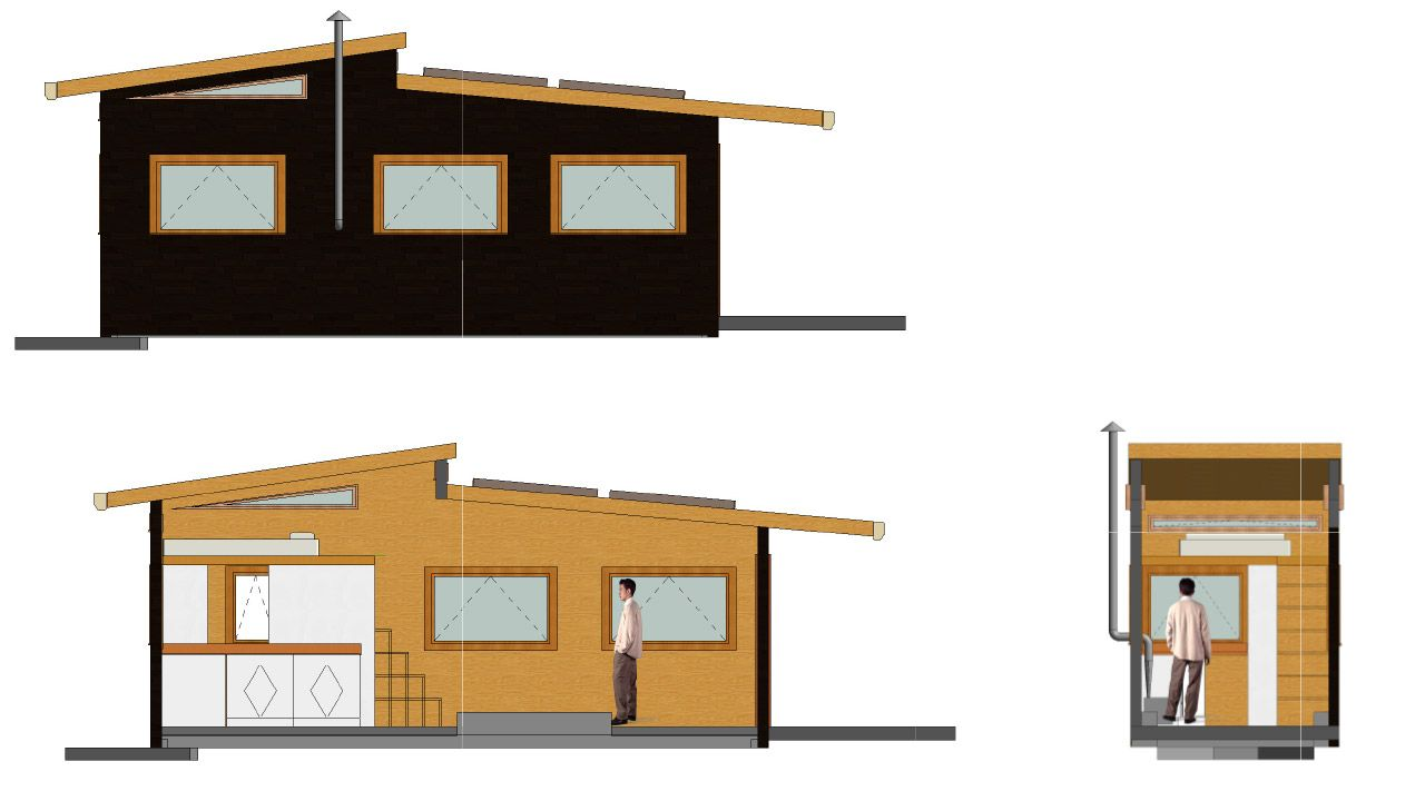 CAD drawings of the tiny home to date | tiny house | Pinterest ...