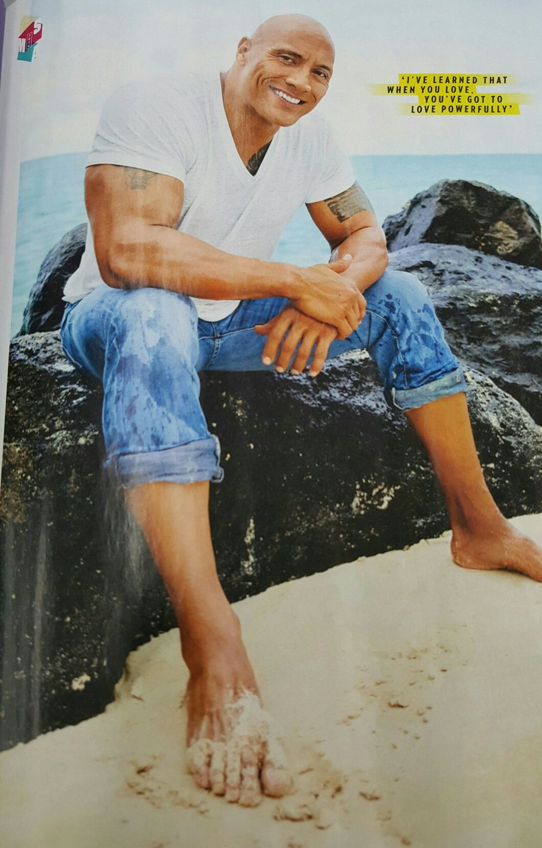 "Dwayne "" Rock"" Johnson Barefoot Rock"