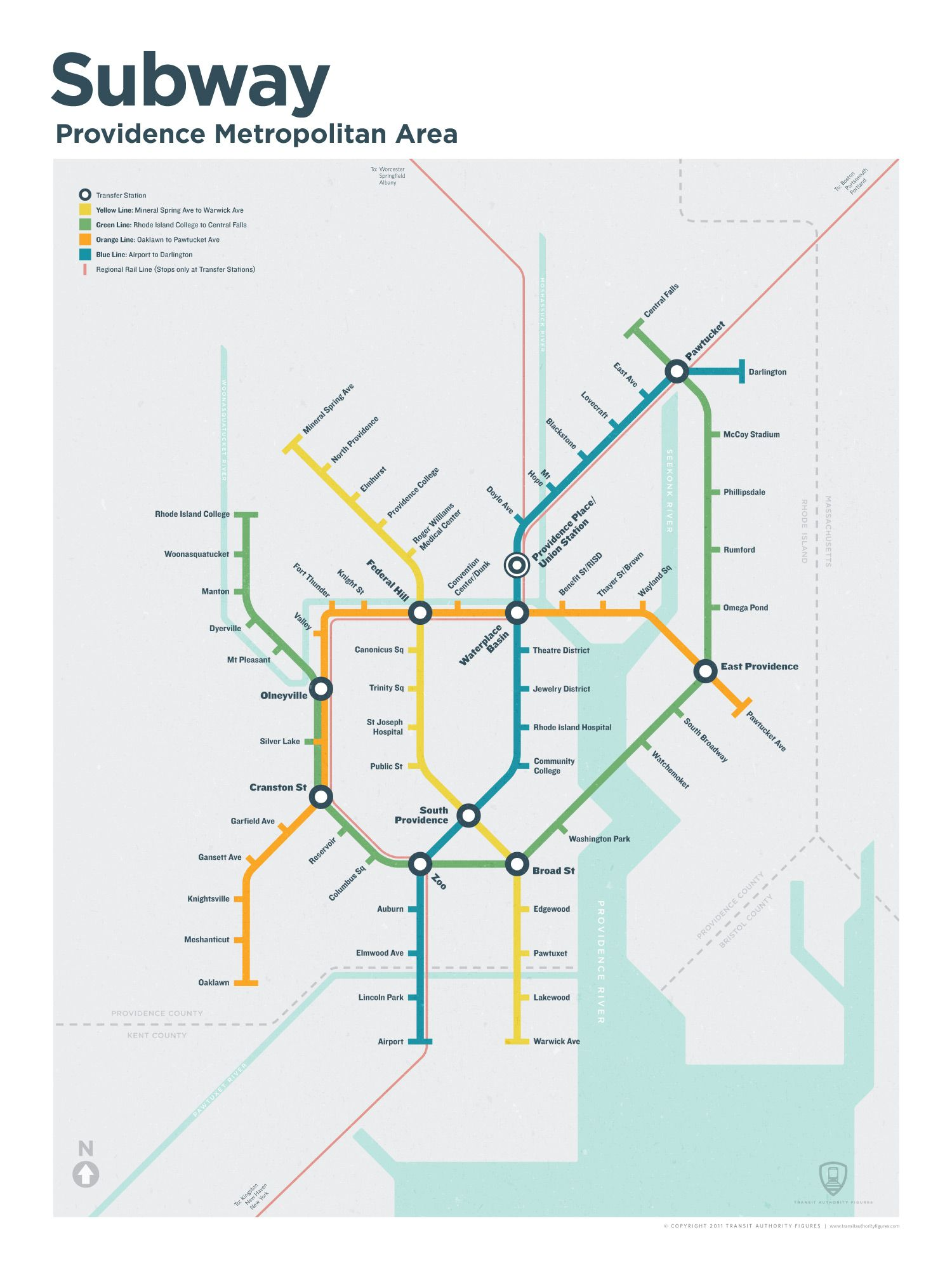 what if providence subway map Oh man if this were a real thing