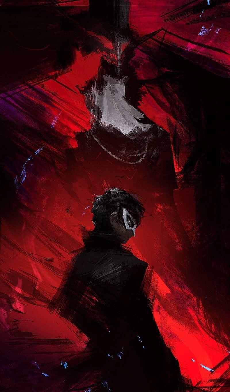 Love the shading and dark atmosphere. Persona 5 joker