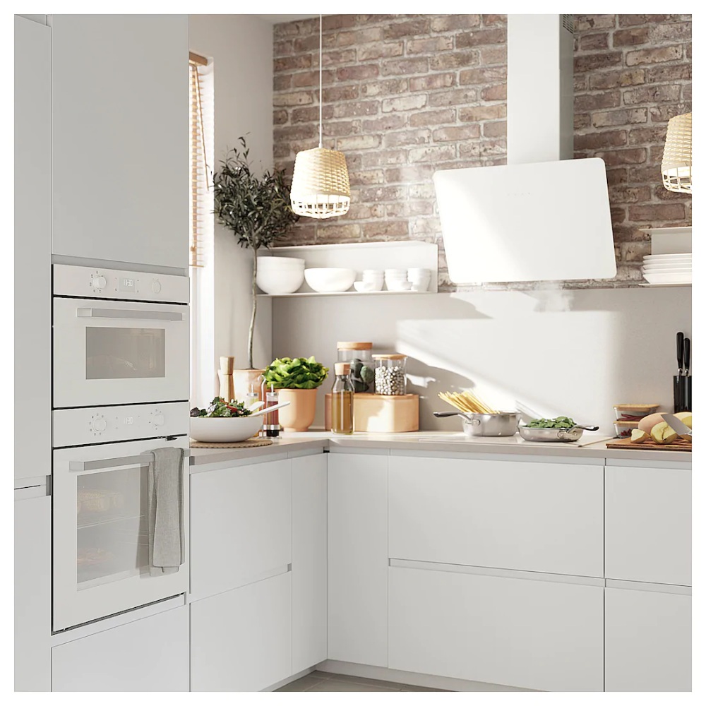 Bejublad Four A Micro Ondes Blanc Hotte Aspirante Ikea Installation Cuisine