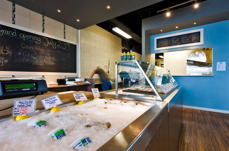 A west coast contemporary seafood market and fish n chips