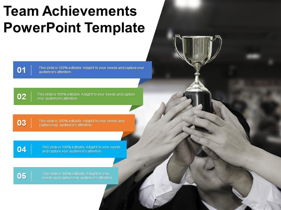 Team Achievements Free Powerpoint Template Powerpoint Templates Powerpoint Template Free Free Ppt Template