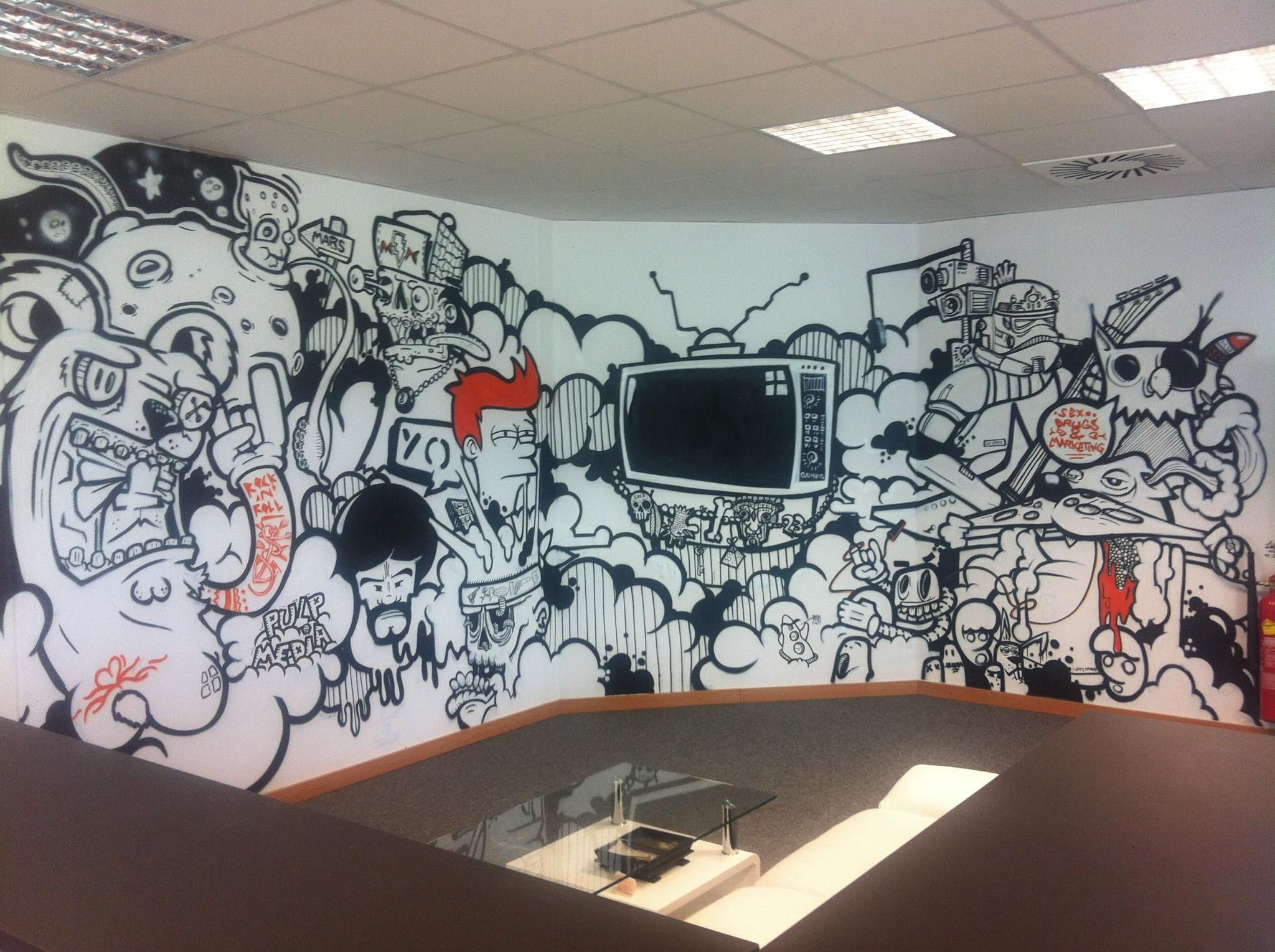 Room wall graffiti - Office Graffiti Wall Office Graffiti Wall Bedroom And Living Room Image Collections