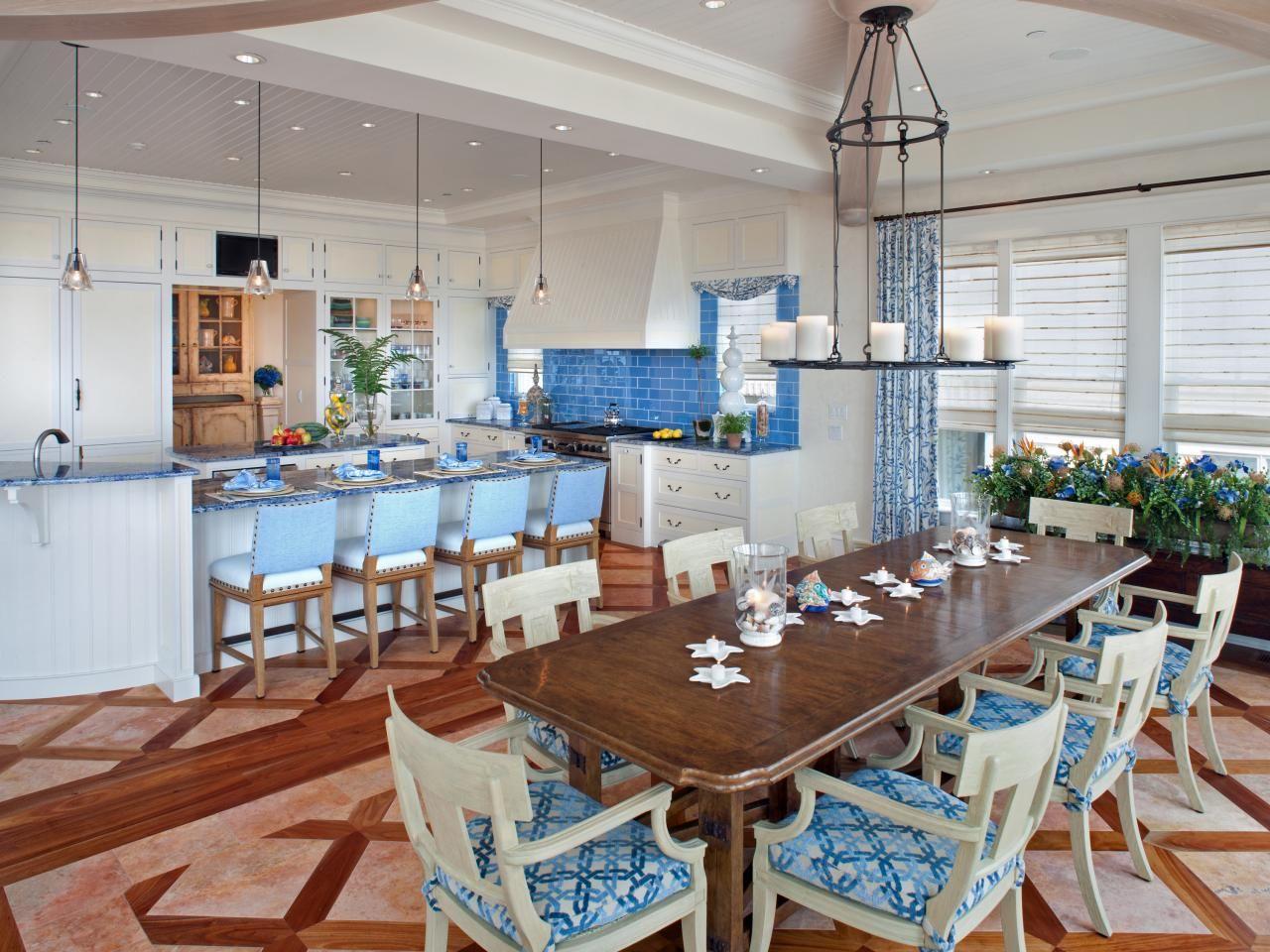 Blue Backsplash  Kitchen  Pinterest  Coastal Large Candles And Custom Coastal Living Dining Room Furniture Design Inspiration