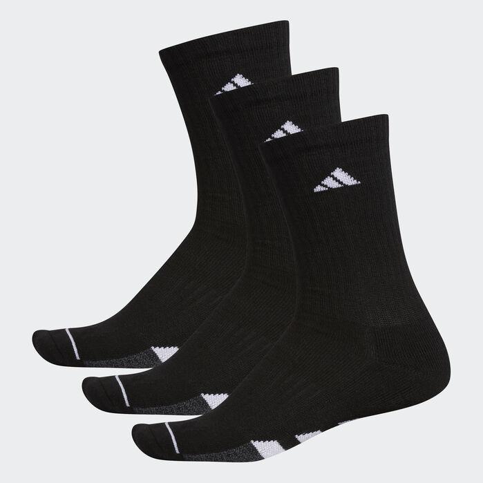 2977d0e46 Cushioned Crew Socks 3 Pairs Black L Mens