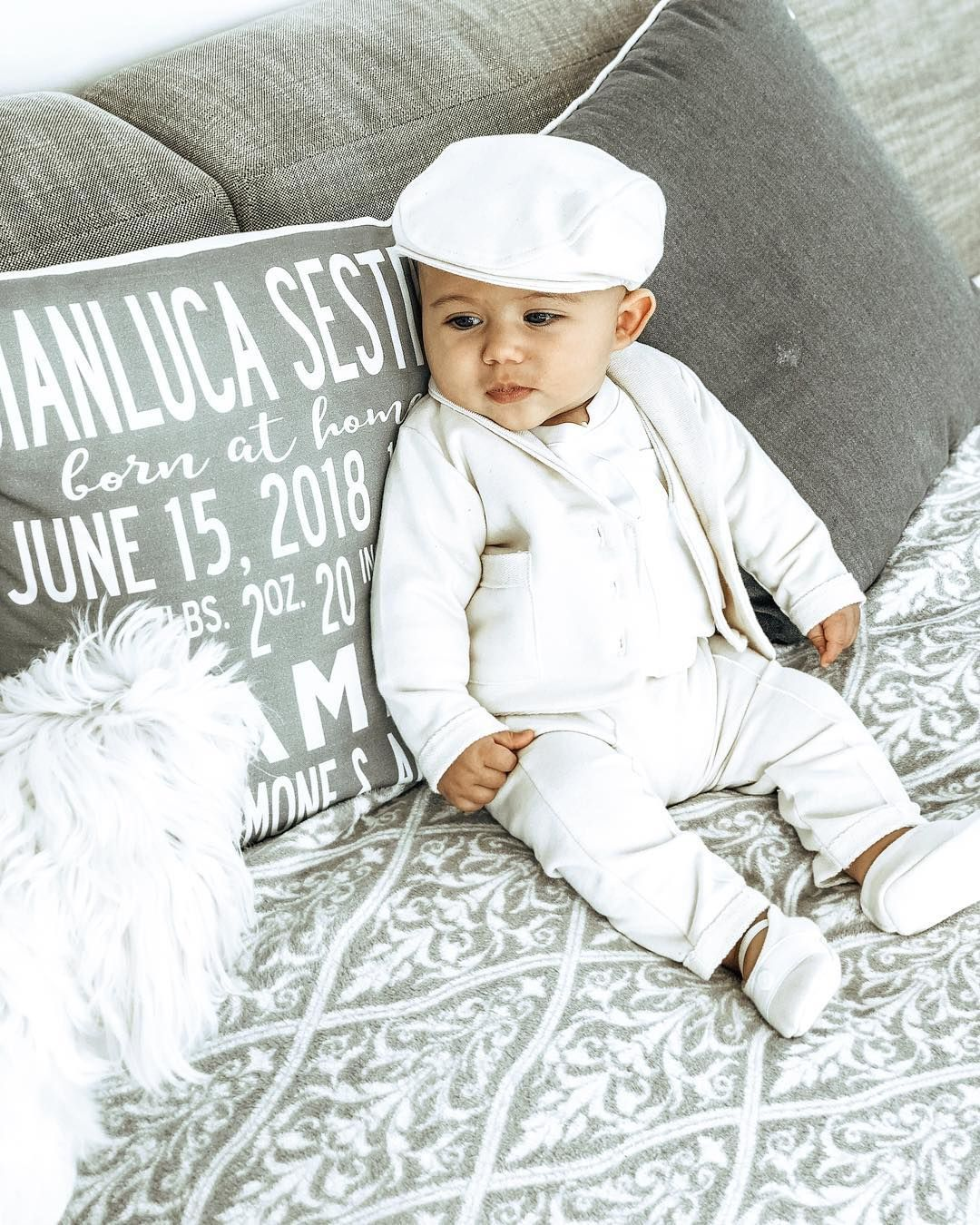 174a1f65e Baby Boy Christening Day | Wearing Miles Suit by Baby Beau & Belle | Boys  Christening & Baptism Photos #christening #baptism