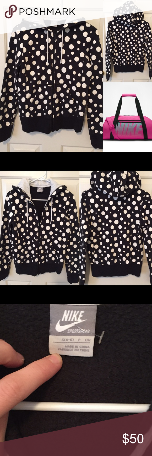 Nike Polka Dot Hoodie Sweater Sold Polka Dot Hoodie Sweater Hoodie Sweaters [ 1740 x 580 Pixel ]