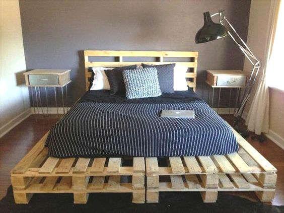 Fabriquer un lit avec des palettes de bois wood pallets bed Lit