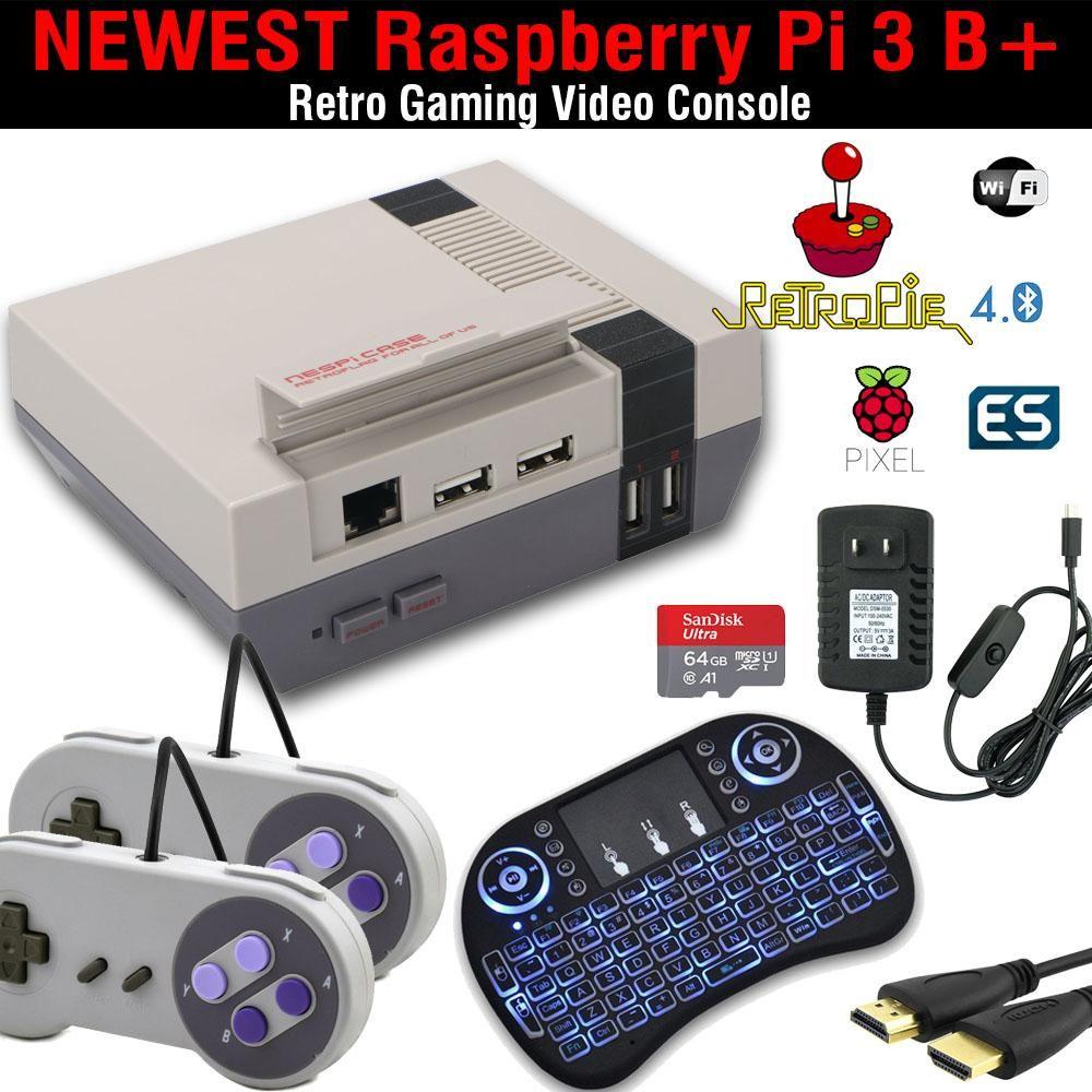 Raspberry Pi 3 B+ Retropie Complete Build, Games, Nespi Case