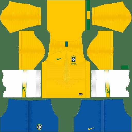 Dream League Soccer Kits Brazil 2018 World Cup Kit And Logo Url In 2020 Soccer Kits World Cup Kits Soccer