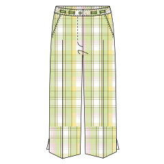 Carefree Plaid Pedal Pusher