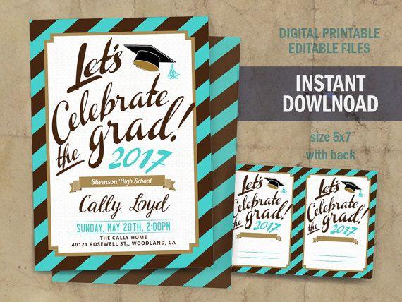 Congrats graduate invite cards for home printing do it yourself invite cards for home printing do it yourself solutioingenieria Choice Image