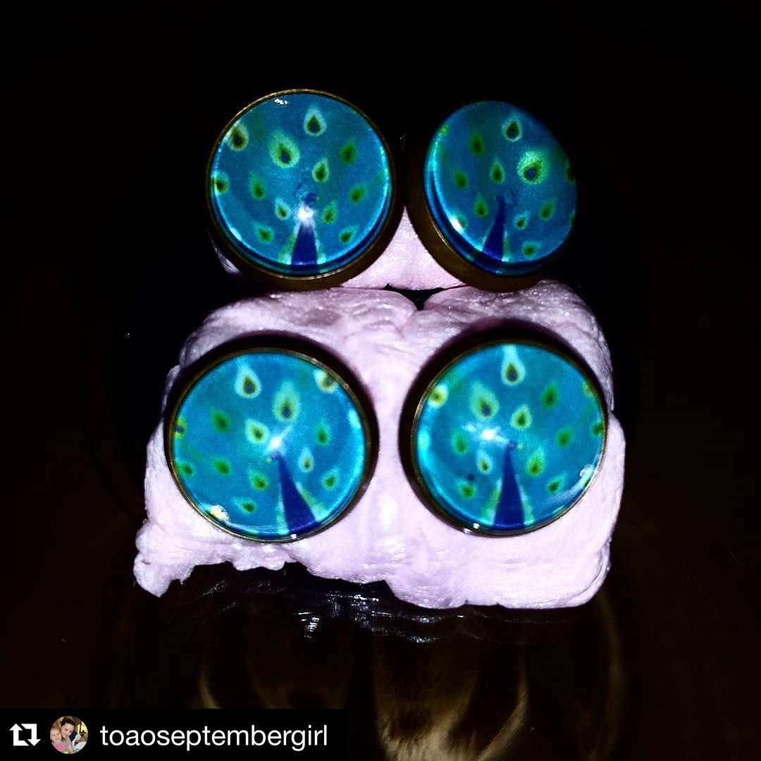 """Customer Photo #Repost @toaoseptembergirl with @repostapp. ・・・ Raechel & I are sooo excited to get our peacock earrings...Thank you @countrymermaids…"""