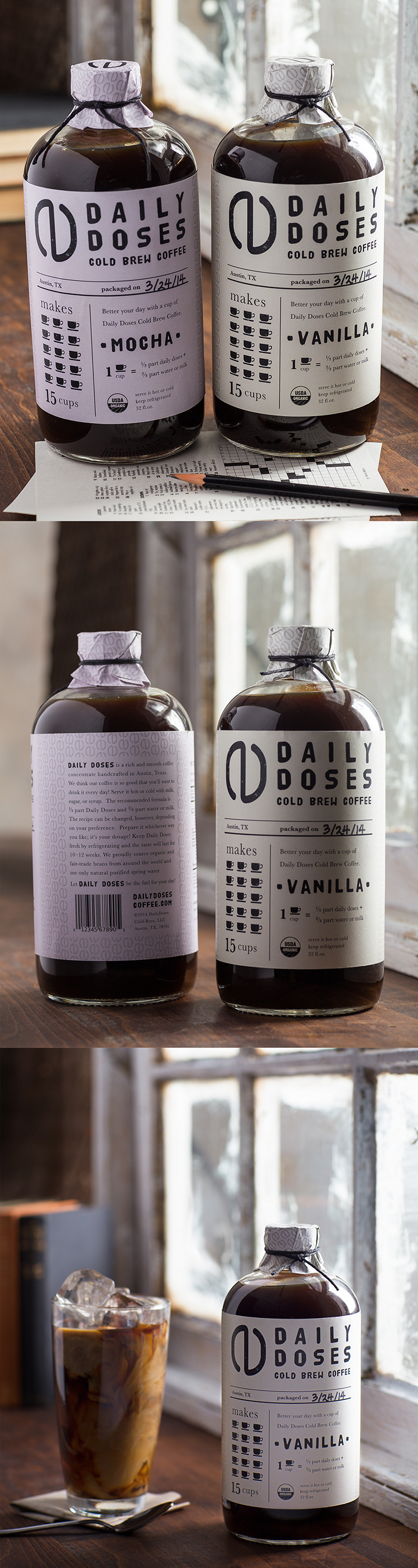 Daily Doses, a cold brew packaging project by Joanne Kim