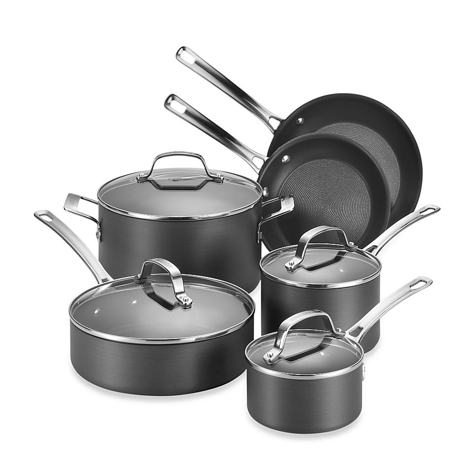 Circulon Genesis Hard Anodized Nonstick 10 Piece Cookware Set Grey