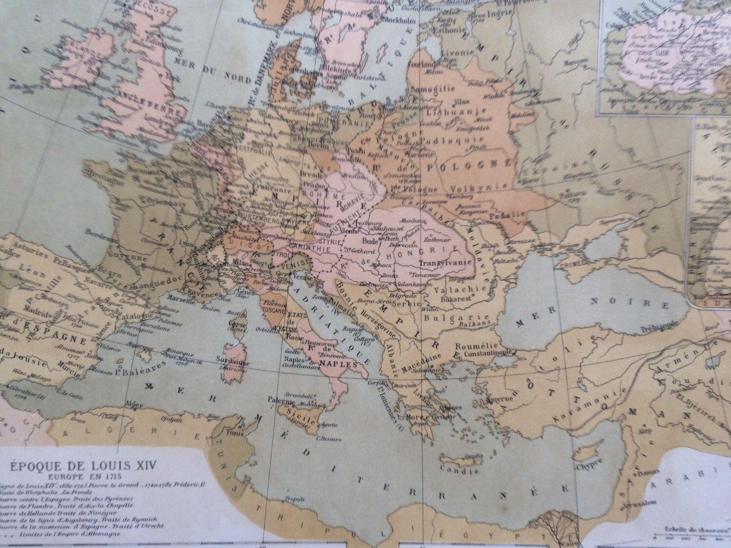 Map Of Europe Russia Middle East%0A      Europe Antique Map  Epoque de Louis XIV  French Language Map   Geography  Cartography  Historical Map