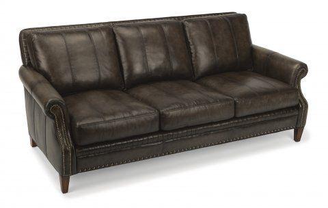 Daltry Leather Or Fabric Sofa By Flexsteel Via