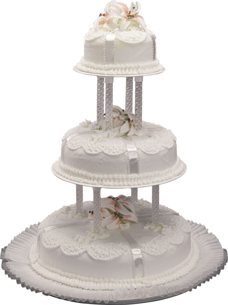 White Wedding Cake PNG Clipart