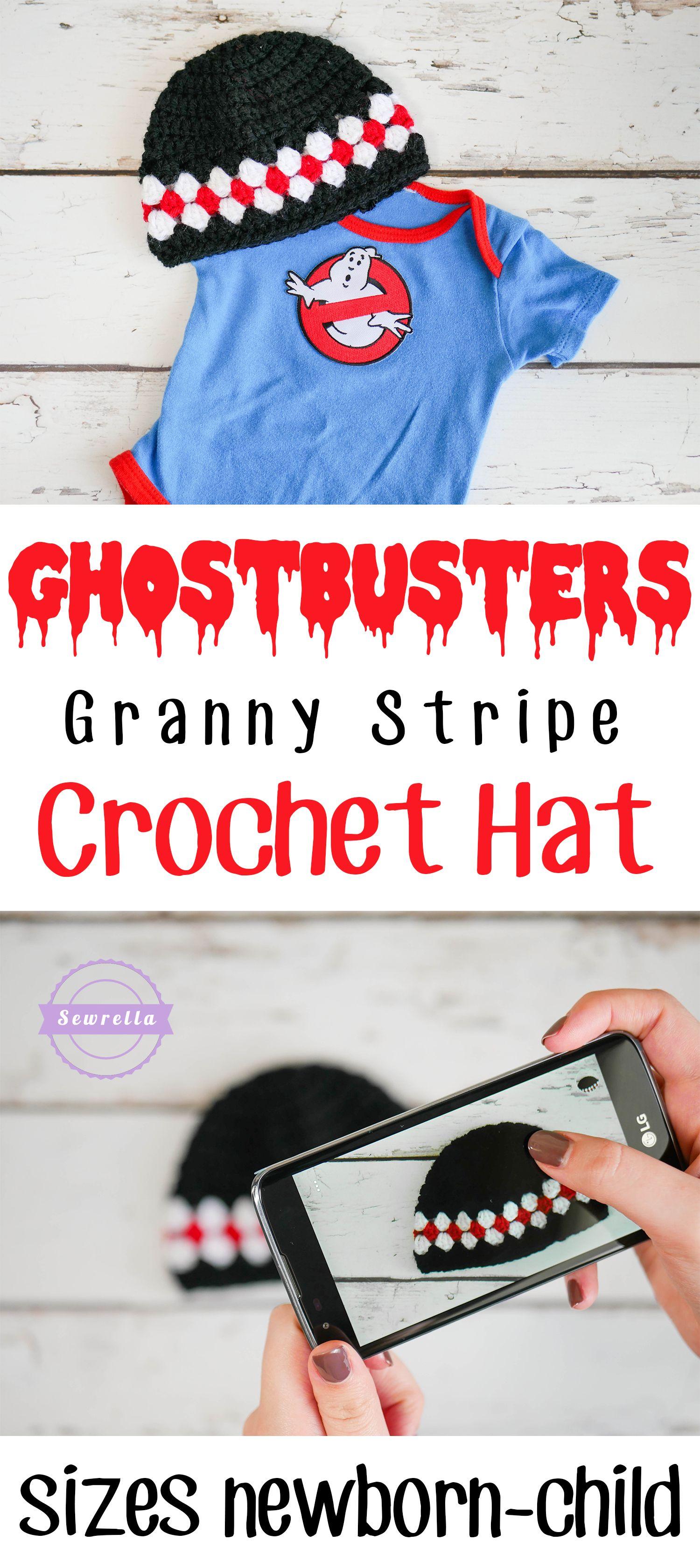 Ghostbusters Granny Stripe Crochet Hat | Pinterest