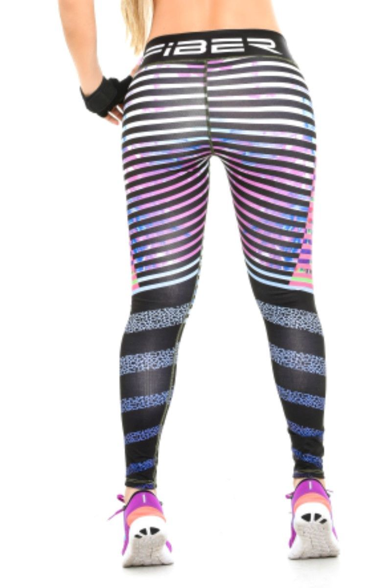 71c1ff73ce Fiber -Black and Purple Stripes Leggings