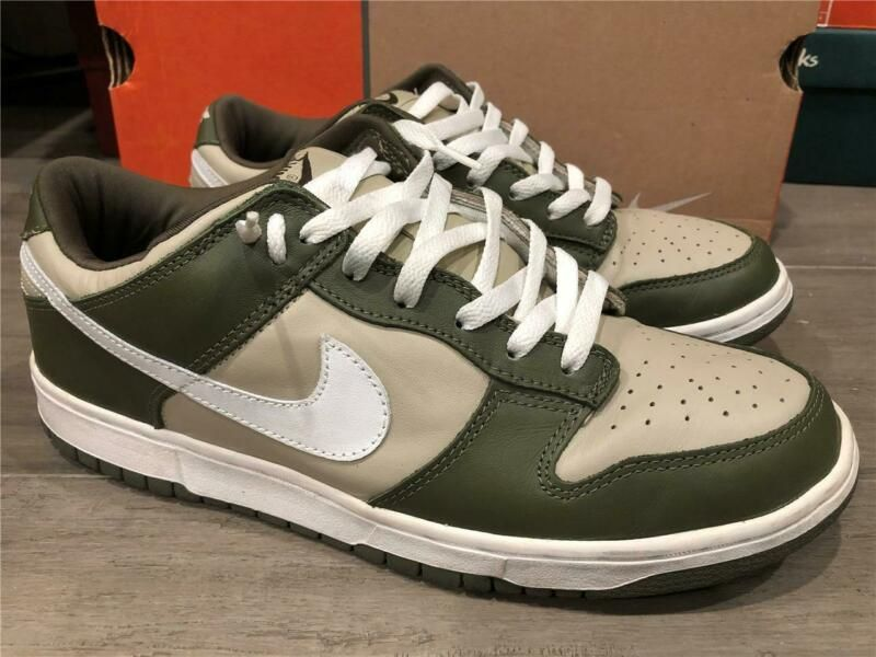 VINTAGE 2002 NIKE DUNK LOW PRO LIGHT STONEFADED OLIVE GREEN