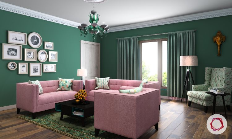 Wallpaper Vs Paint Insider Info You Need To Know Floor Cushions Living Room Living Room Lighting Indian Living Rooms