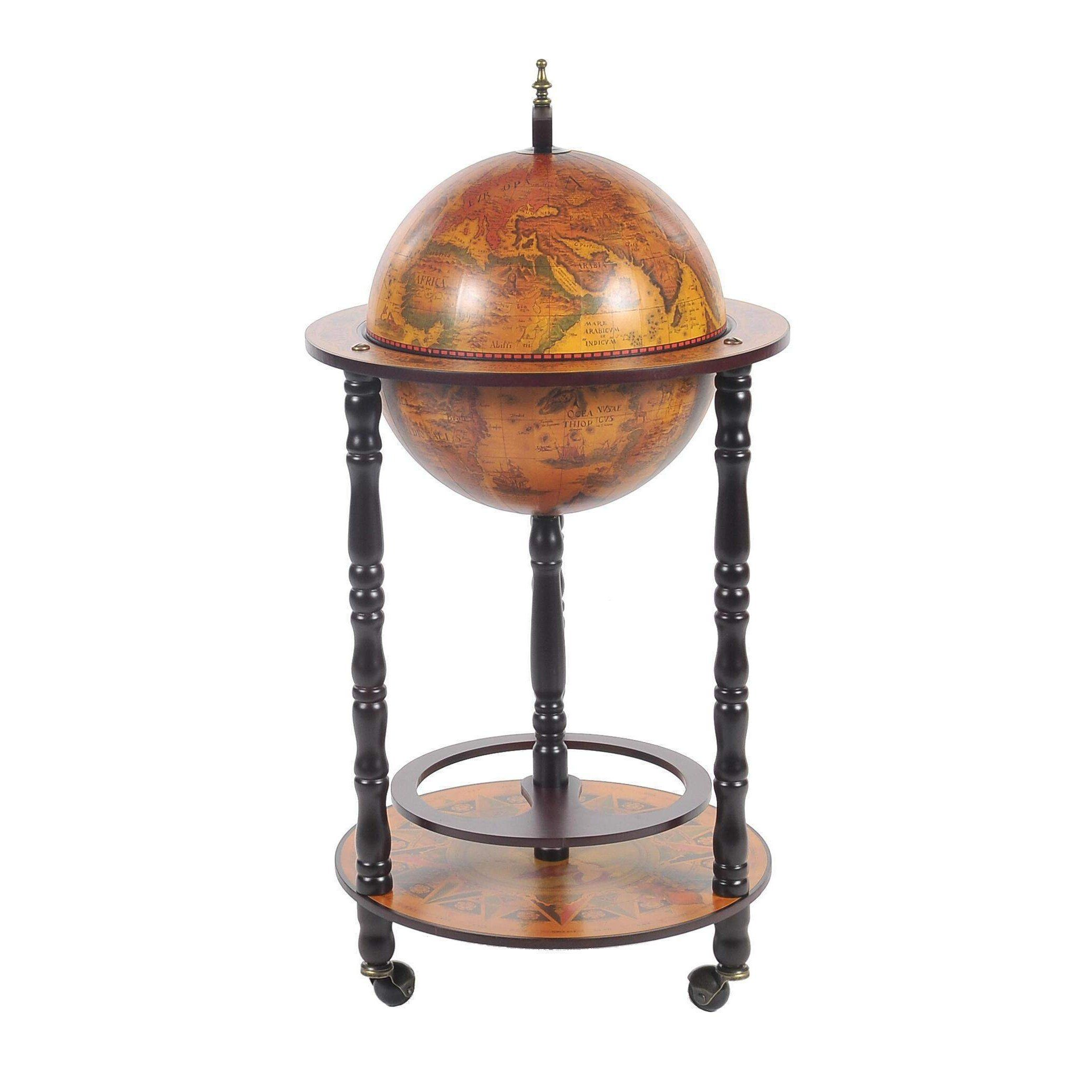 Globe Bar Table 330mm 4 Legs Stand Red Model Ng018 By Old Modern Handicrafts Products Globe Bar Globe Table