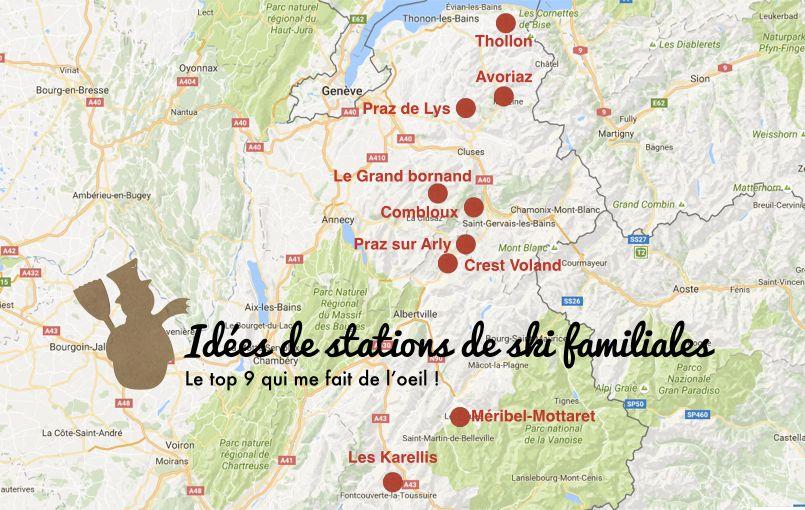 Carte Stations De Ski Familiales Stations De Ski Station De Ski Ski