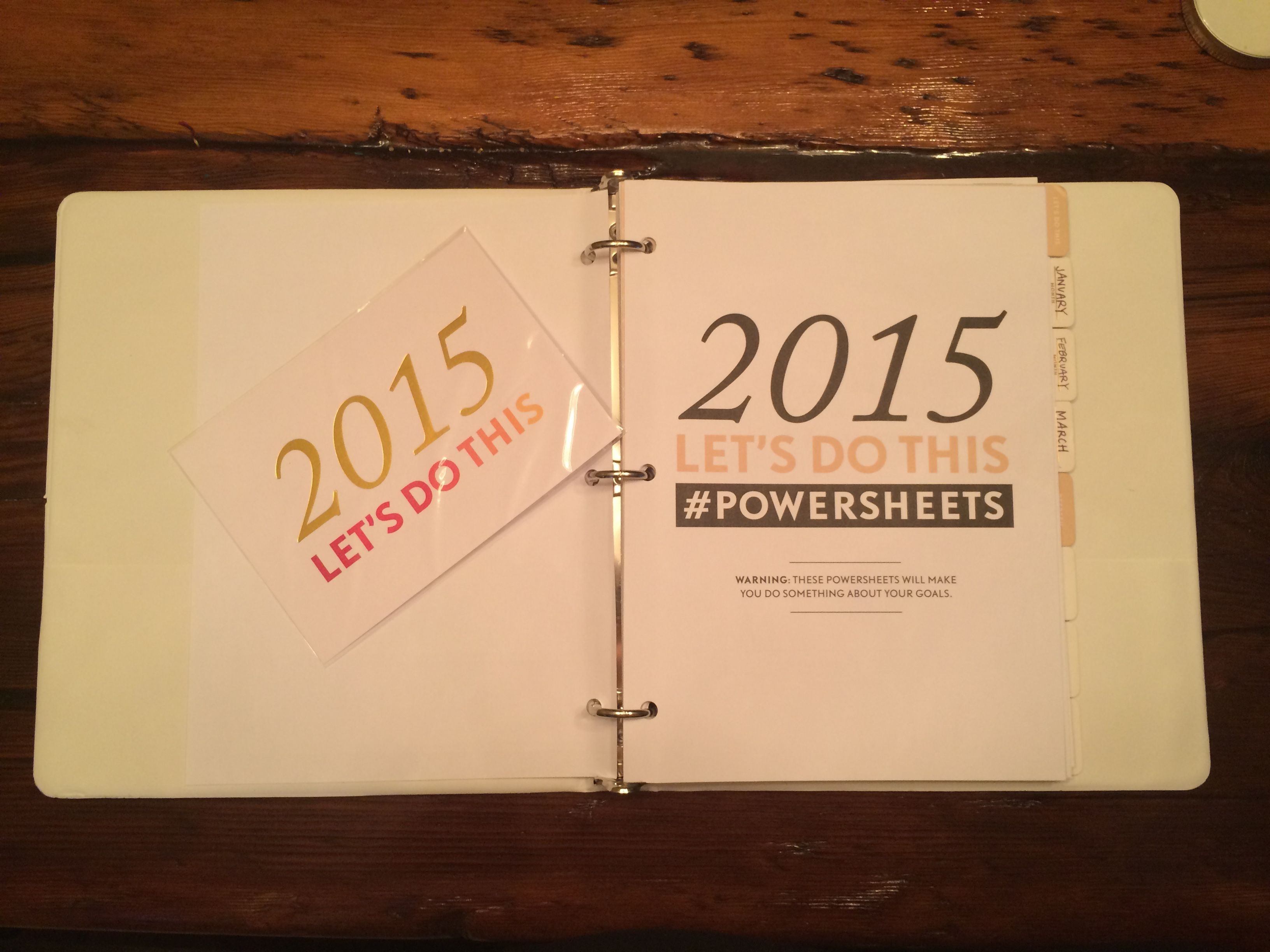 2015 Goals and the PowerSheets!