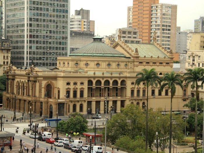 Sao Paulo Brasil Teatro Municipal Cidades Do Brasil O