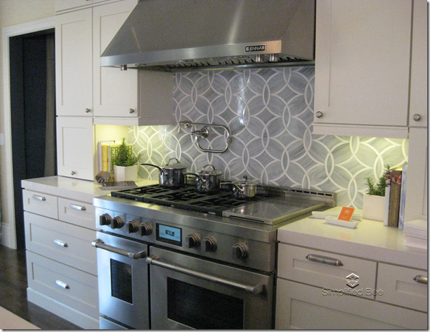 Love Love Love The Backsplash Elle Decor Showhouse Palmer Wiess Kitchen Stove Backsplash Tile
