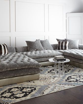 Old Hickory Tannery Galvin Sectional Sofa Hard to go backward... love this u003c
