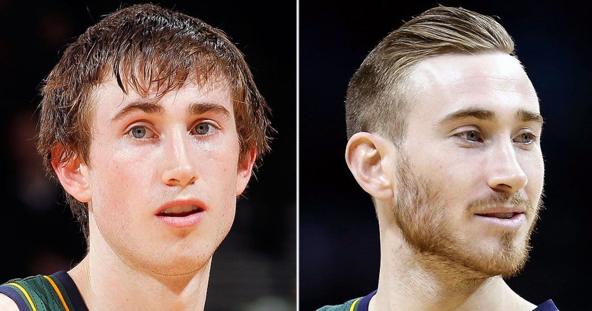 75adfce67ef Utah Jazz basketball player Gordon Hayward debuted a new haircut last  season and recently grew out his beard. Now fans are claiming he's a sex  symbol.
