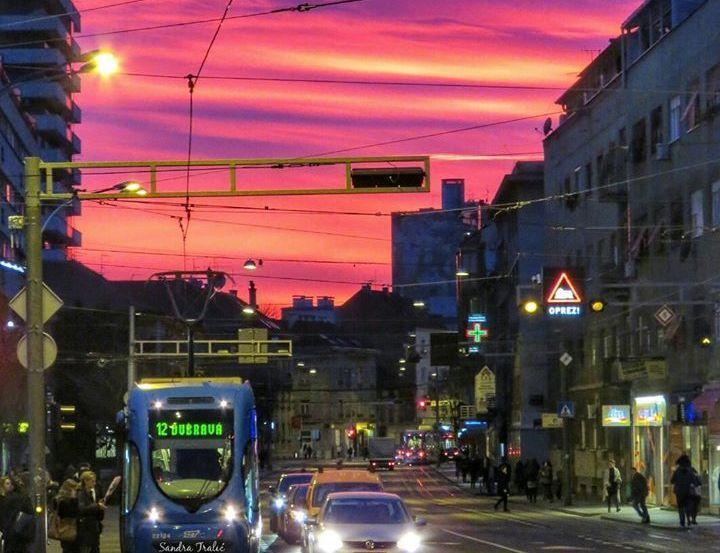 Photos Fiery Sunset Colours Zagreb Sky Sunset Colors Zagreb Sunset Photos