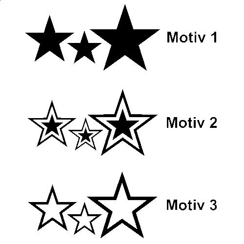 Sterne Wandtattoo - SET