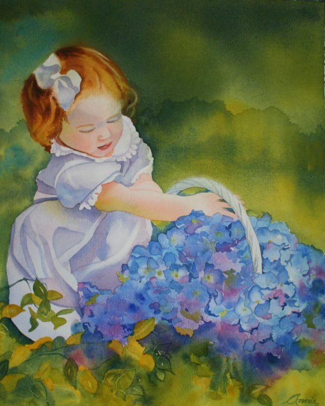 'Flower Child' Watercolor 16x20