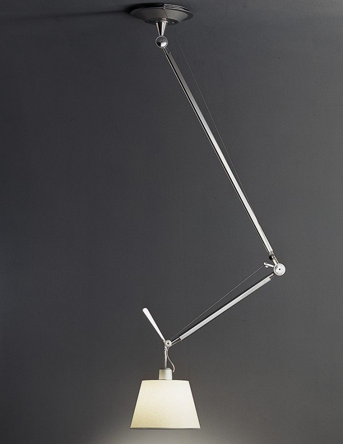 Tolomeo Off Center Parchment Shade By Artemide 9 12 14 16 Diameter Shades Ceiling Lamp Lamp Diy Lamp